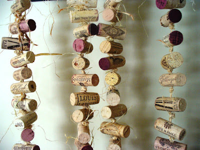 rustic wine cork wedding decor