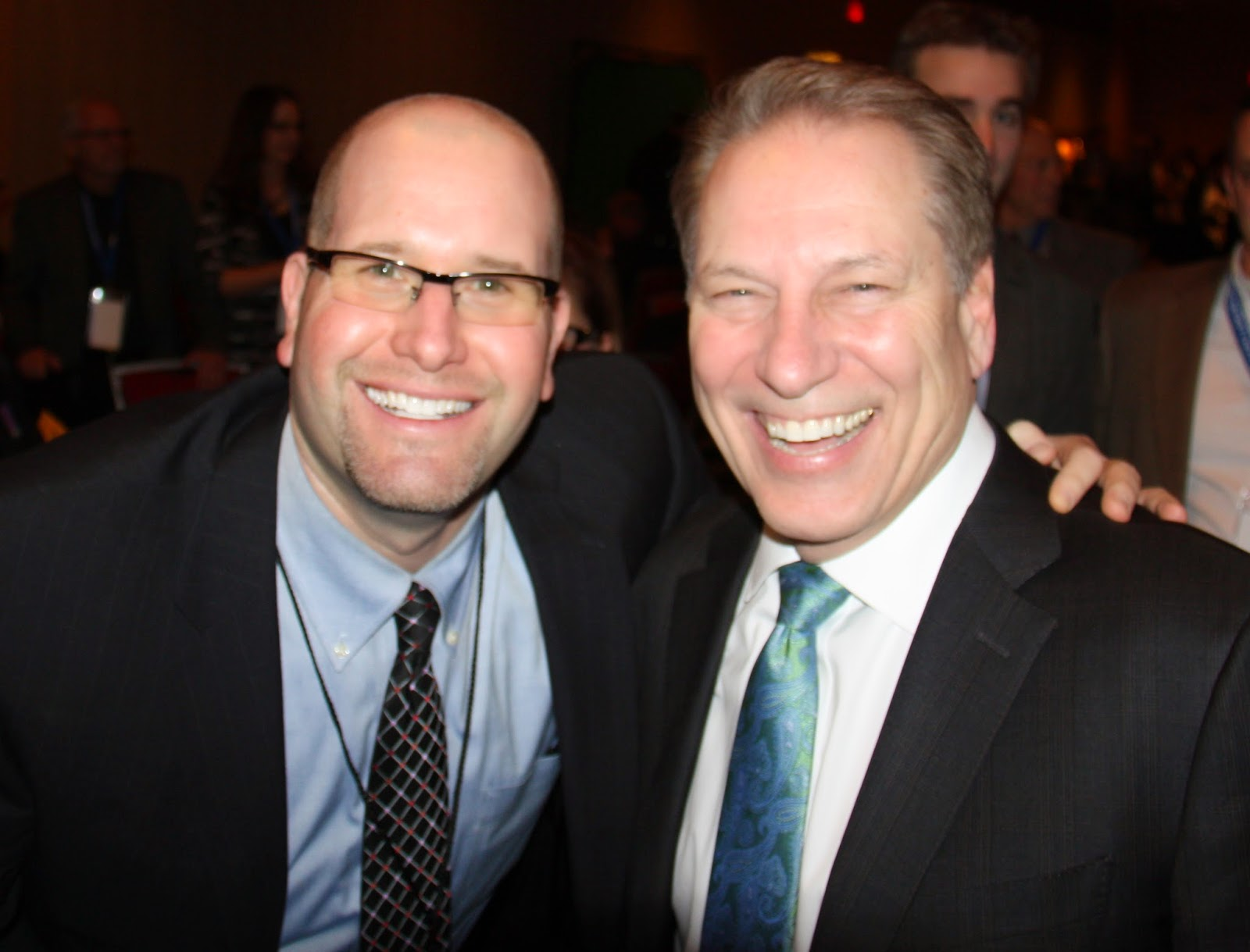 Rabbi Jason Miller and Michigan State University Basketball Coach Tom Izzo