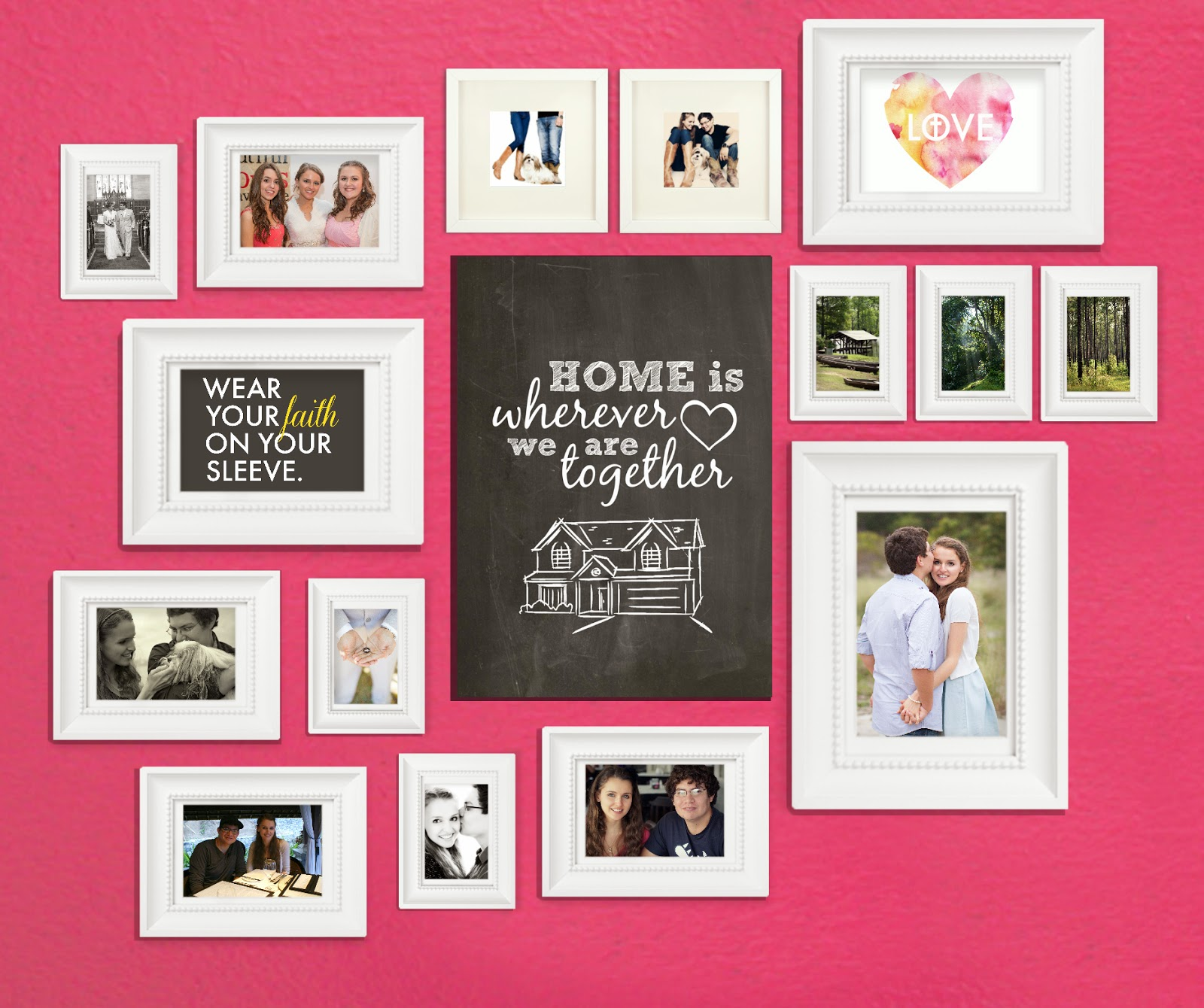 How to create a photo collage wall for your home