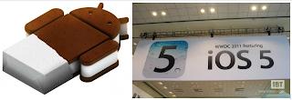 Android x Iphone Ice Cream Sandwich versus Iphone 5