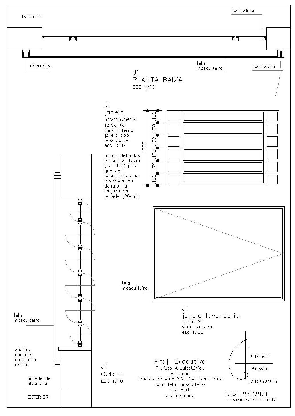 #222222 pedido da cliente a verga da janela J2 (na Cozinha) será em arco  570 Janelas Em Arco Pleno