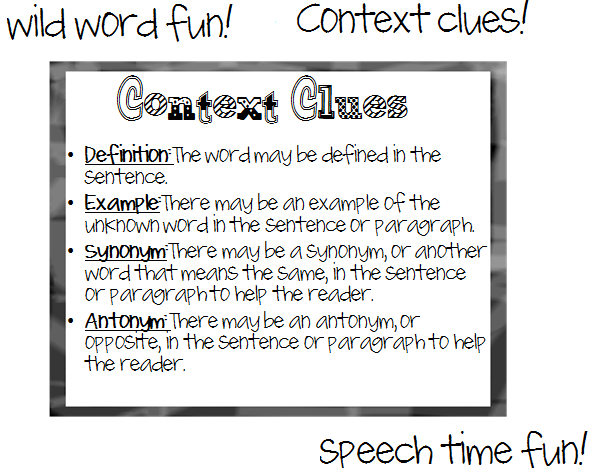 Wild Word Fun Context Clues – Words in Context Worksheets
