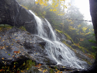 A waterfall on the Monroe Trail in Camel's Hump State Park