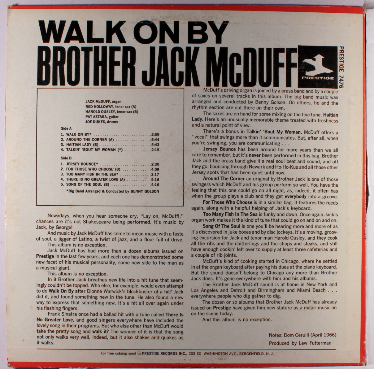 Brother Jack McDuff David Newman Double Barrelled Soul