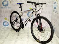 Sepeda Gunung Remaja Pacific Tranzline 300 Rangka Aloi 21 Speed 24 Inci White Blue