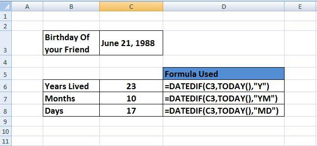 Age range for dating formula