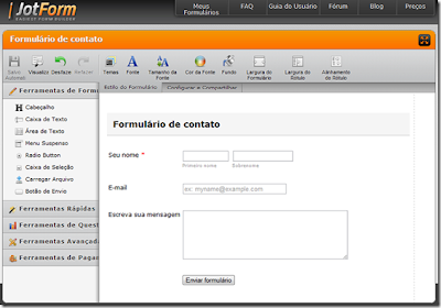 Criar formulario contato