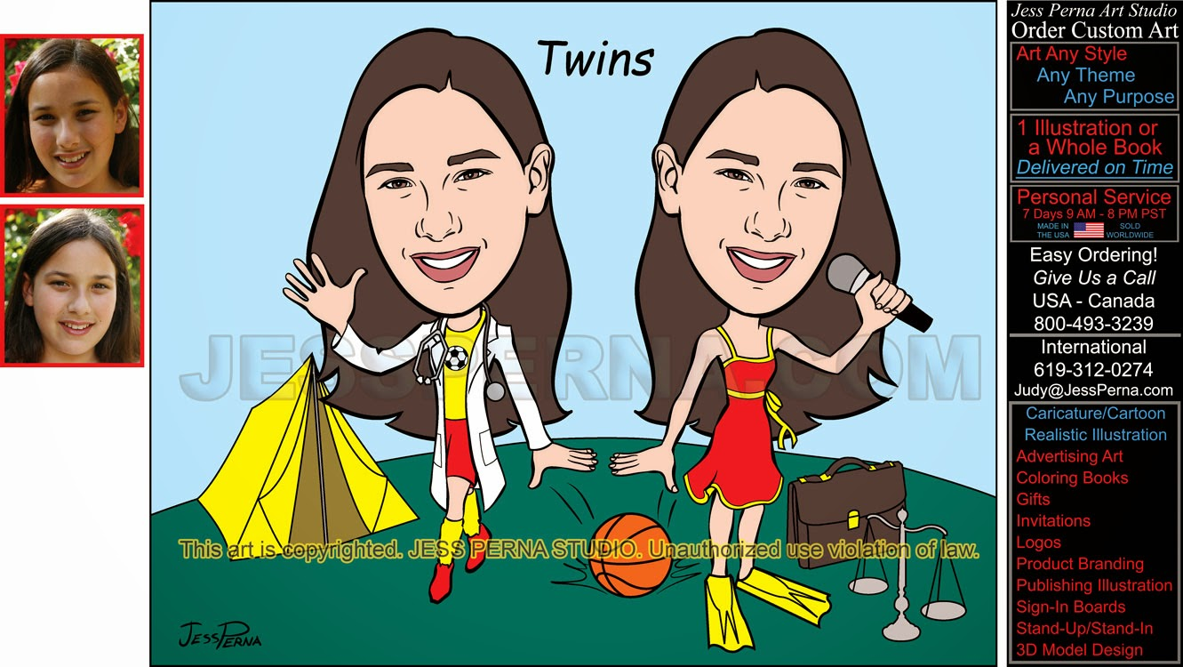 caricatures and cartoons ads gifts sign in boards logos