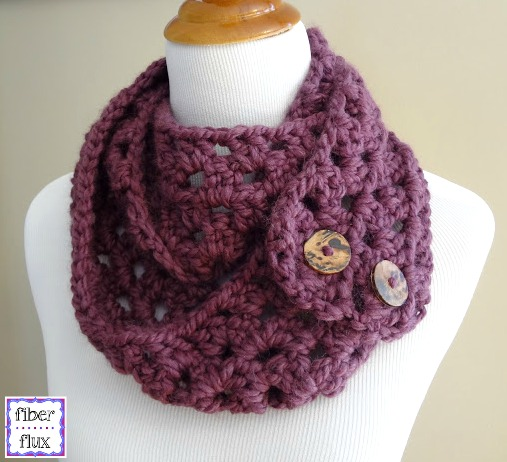 Free Crochet Scarf Patterns For Bulky Yarn : Fiber Flux: Free Crochet Pattern...Fiona Button Slouch!