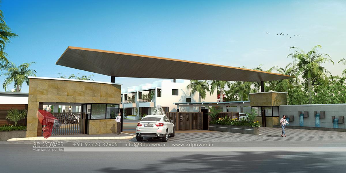 Corporate Building Design | 3D Rendering: Realistic Corporate Building ...
