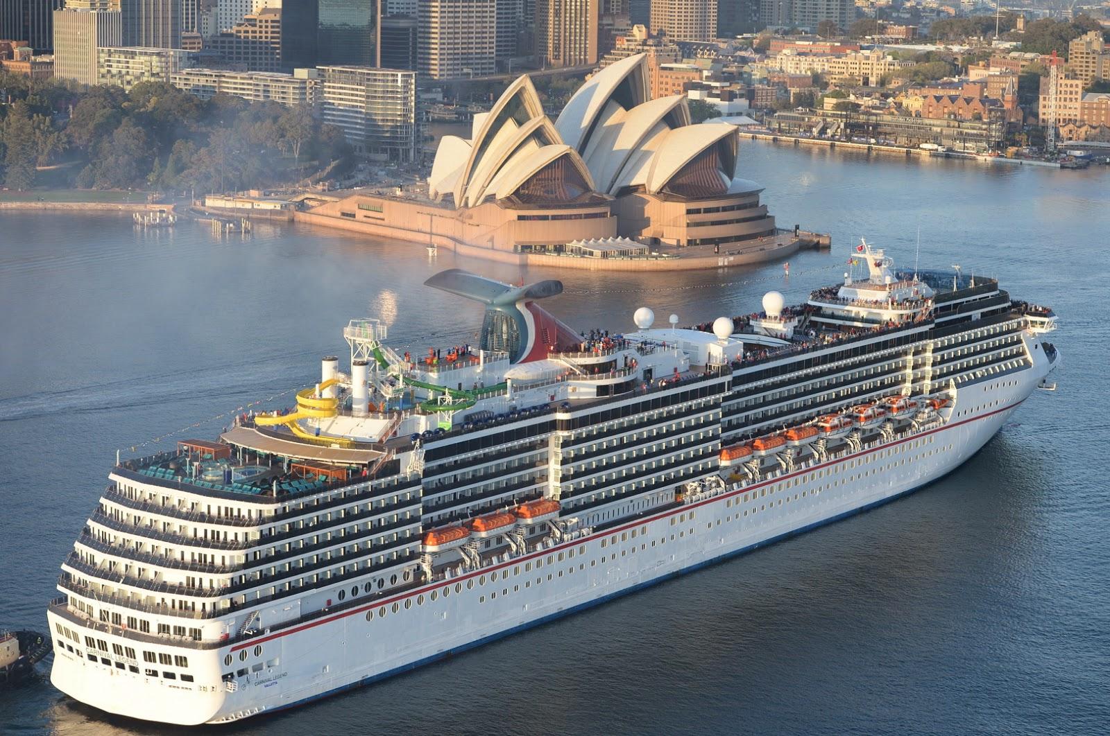 Josies Juice Carnival Cruises Carnival Legend Sails Into - Cruises to australia