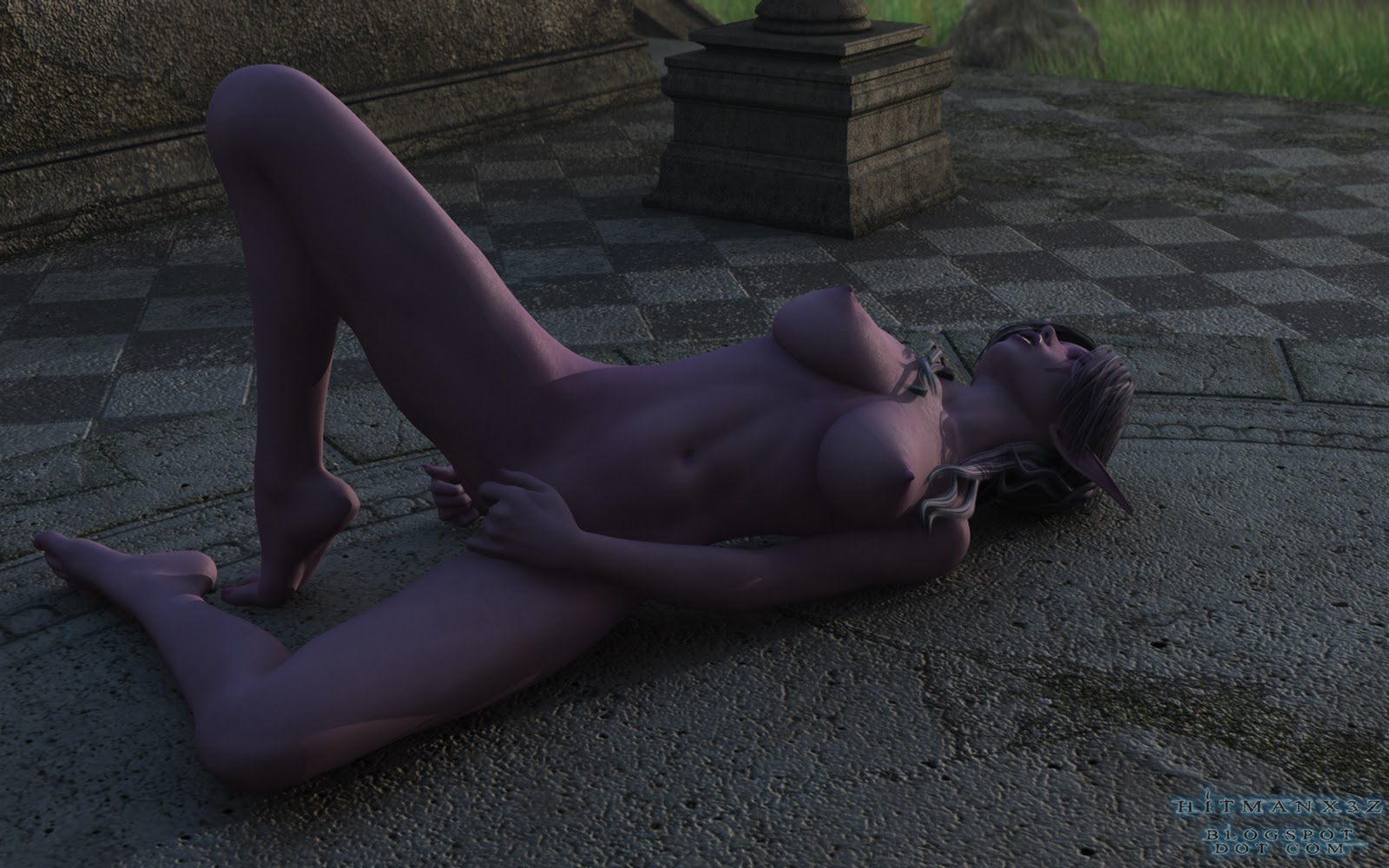 Blue girl nude 3d cartoon wallpaper erotic tube