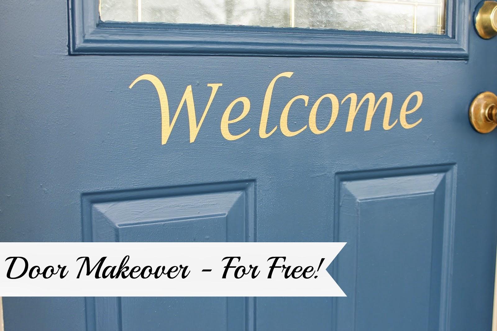 my no-cost door makeover