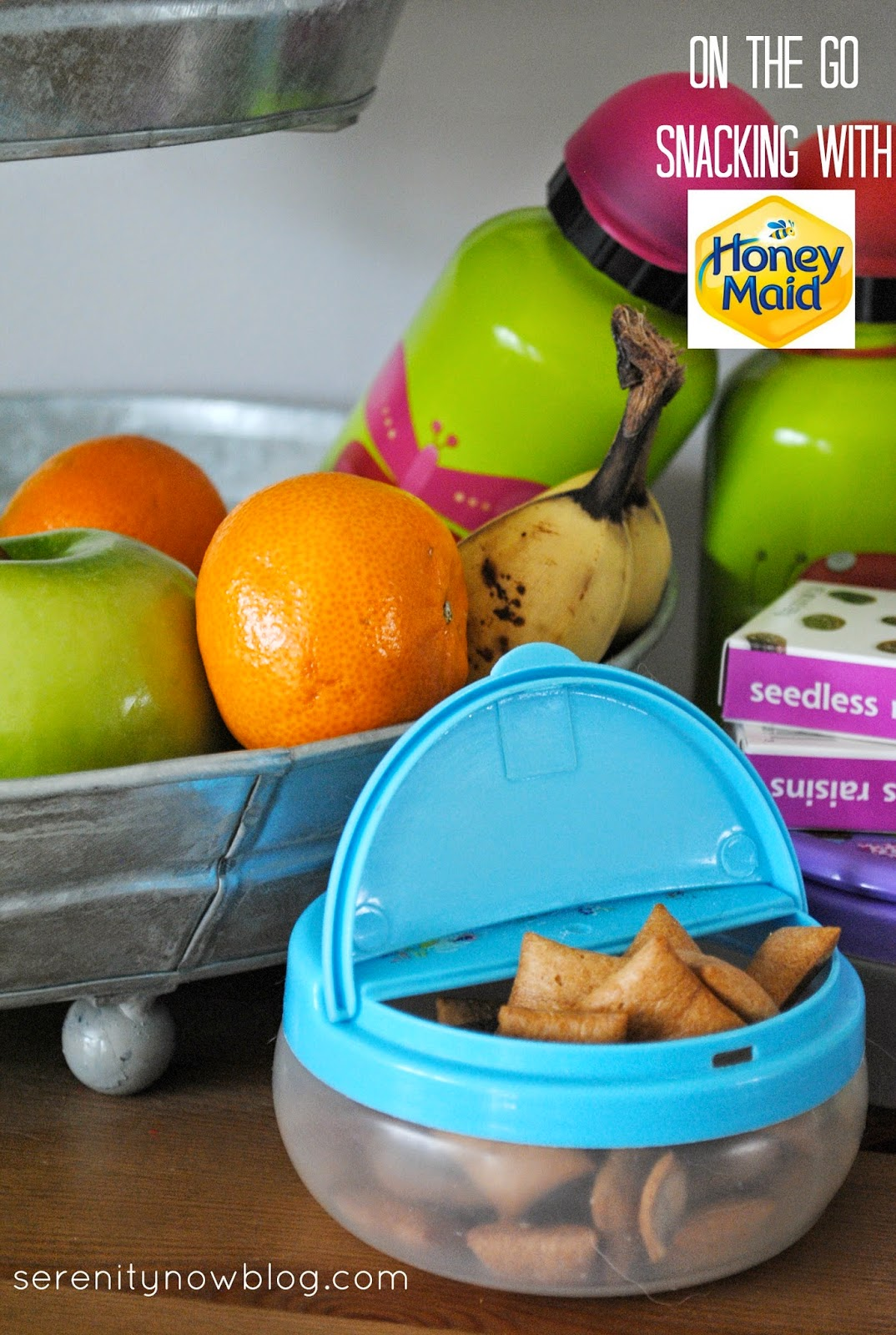 "Setting Up a Snack Station for Busy ""On the Go"" Days, from Serenity Now"