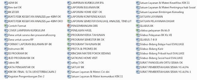 Perangkat BP - BK SMP Lengkap