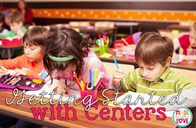 Getting stations, or centers, started in the classroom