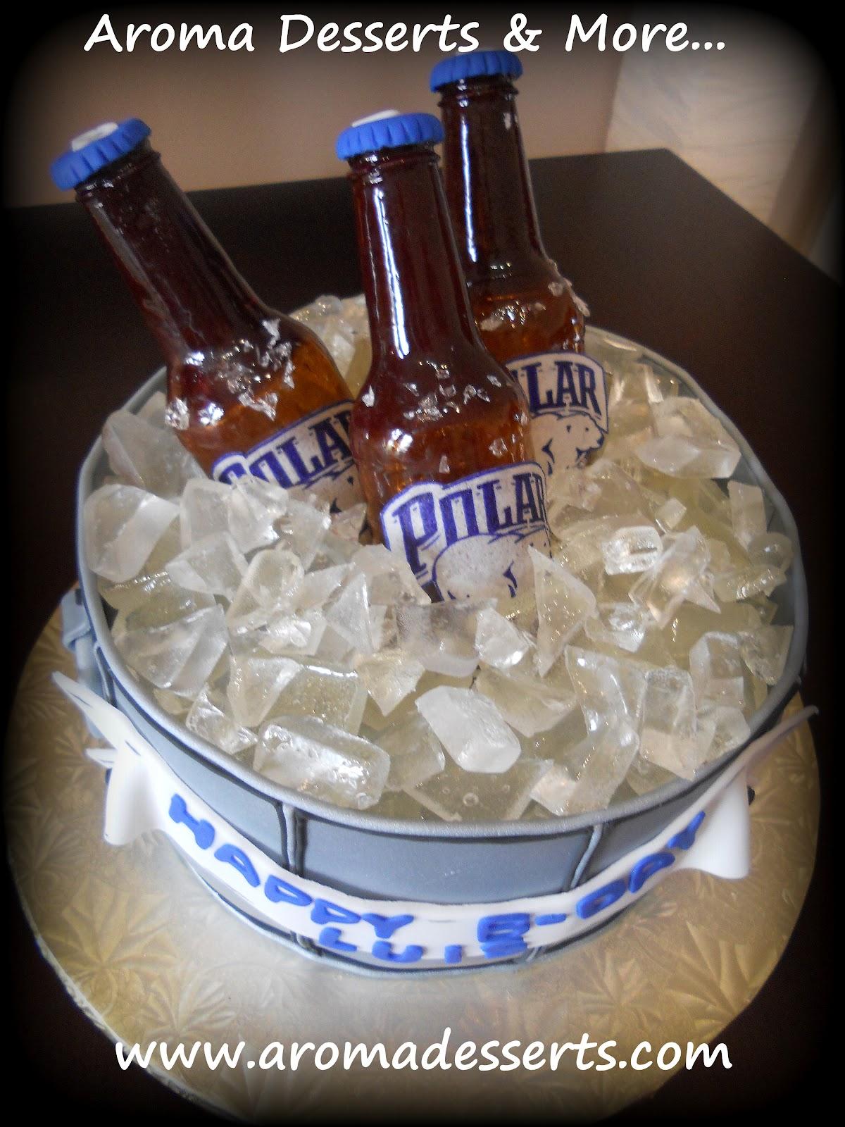 Beer Ice Bucket Cake