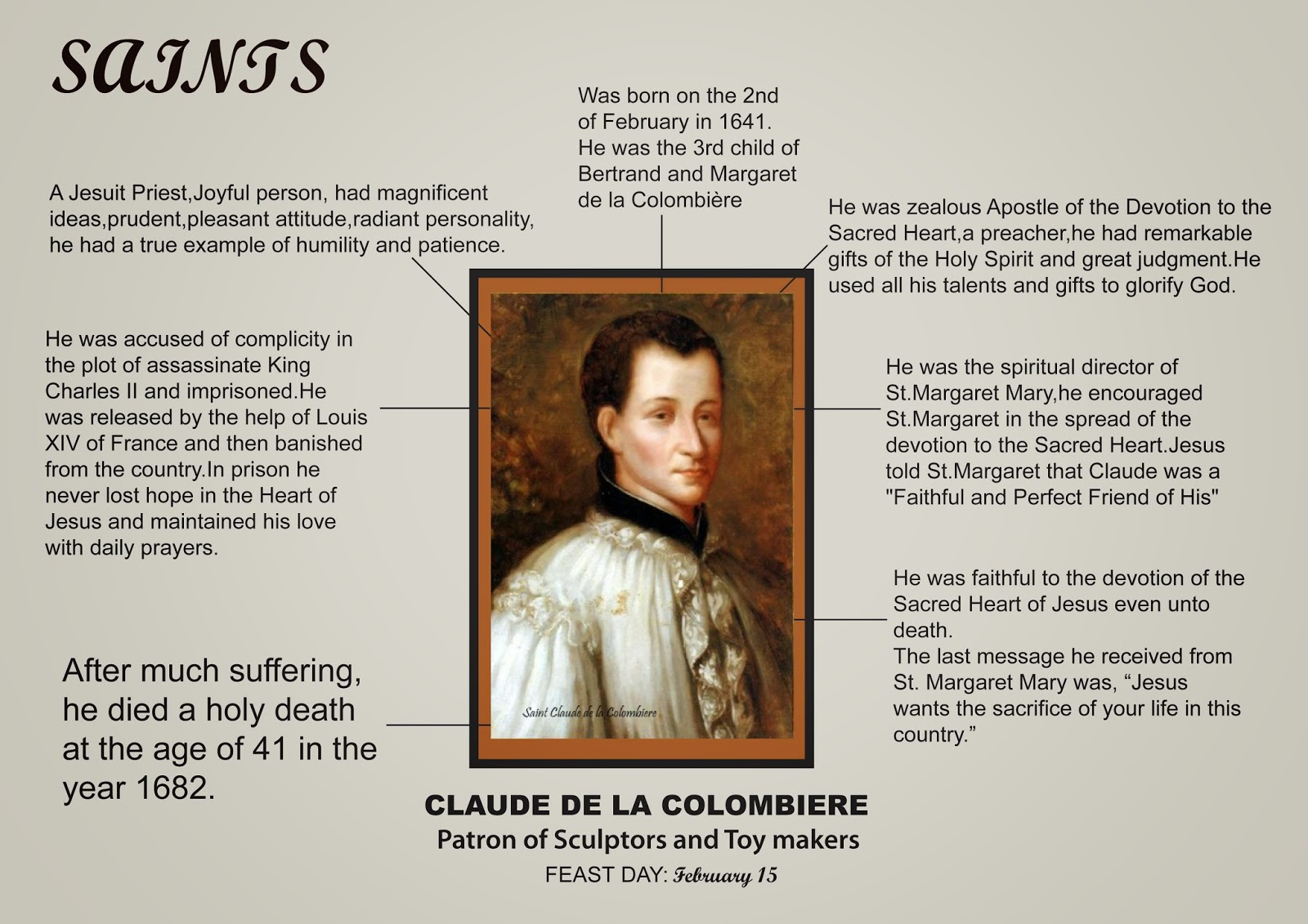 Imitating Christ\'s Humility: Feast Day of Saint Claude de la Colombiere