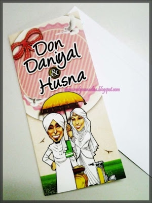 Kad Jemputan perkahwinan Ustaz Don Daniyal dan pasangannya husna