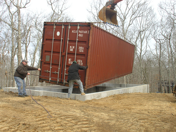 Shipping container homes july 2011 - Foundations for shipping container home ...