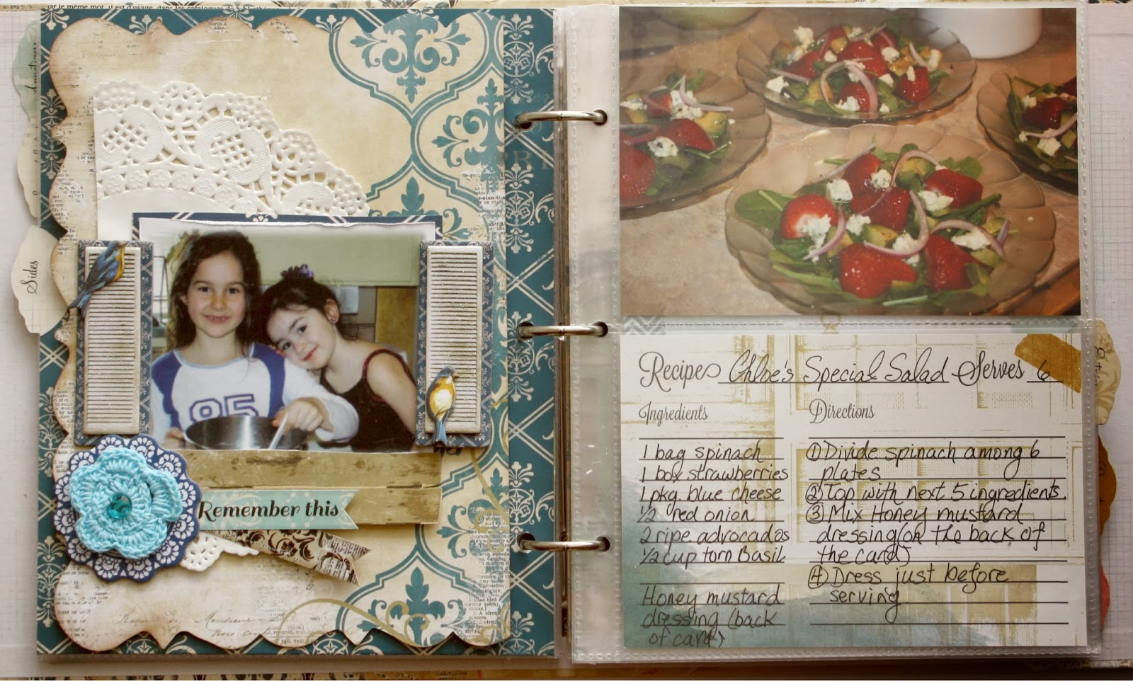 How to scrapbook a recipe book - Creating Recipe Book With Bo Bunny S Misc Me