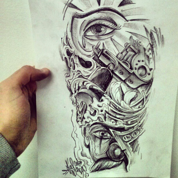 Chicano style curro para luismi tattoo lawas for Chicano tattoo art