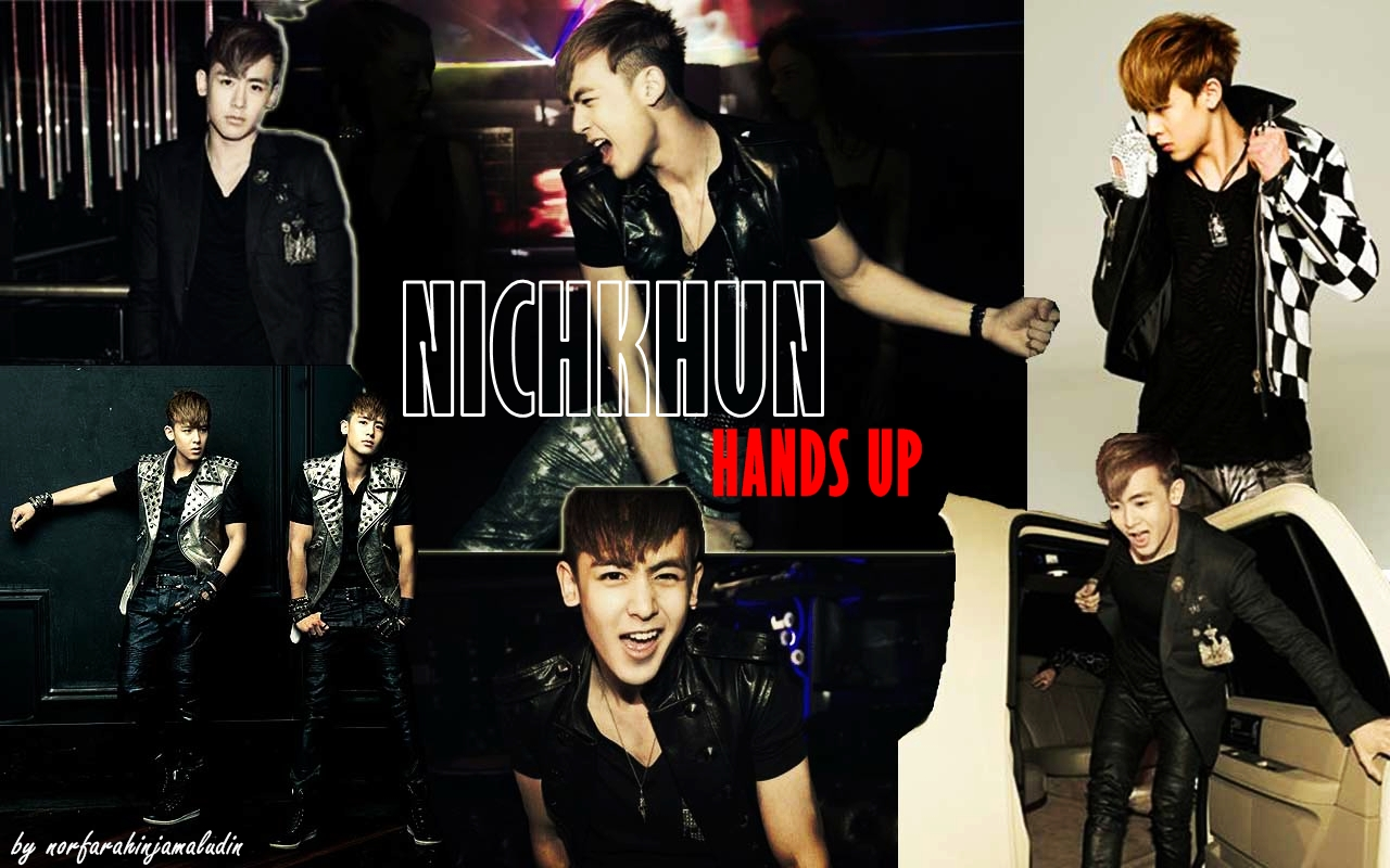 POP FEVER just for kpop fanz: NICHKHUN 2PM HANDS UP WALLPAPER