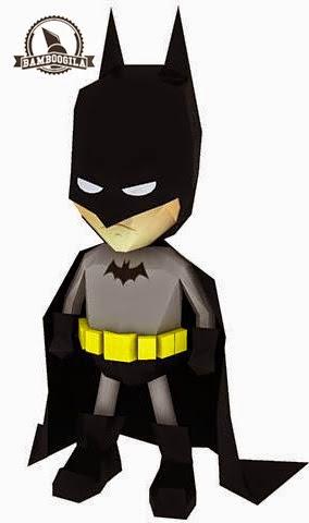 SD Batman Papercraft Mini Model