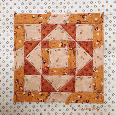 Dear Jane Quilt - Block F8 Church Window