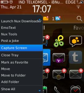 CaptureNux Aplikasi Capture Screen BlackBerry
