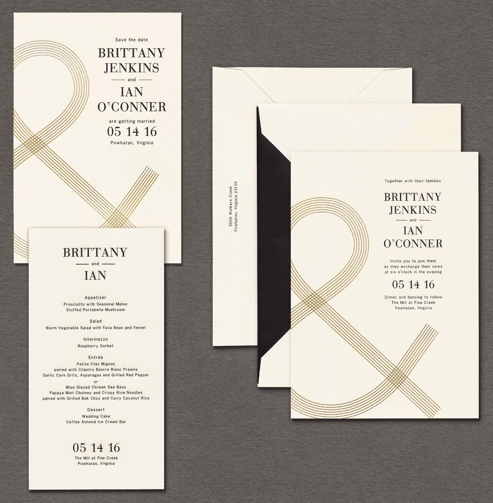 william arthur blog: our new vera wang wedding album: gold glamour, Wedding invitations