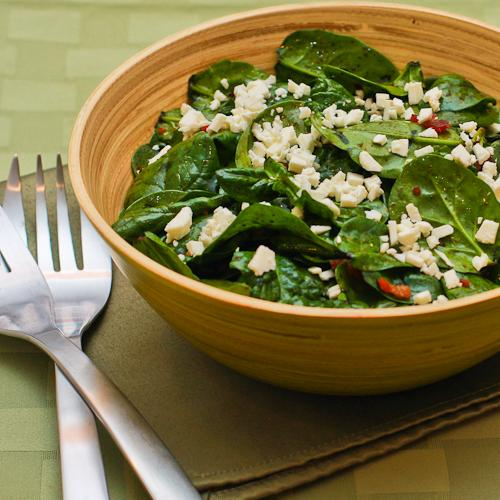... splurge on something like this Spinach Salad with Bacon and Feta