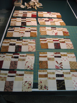 Karen's Postage Stamp Quilt ~ In Progress