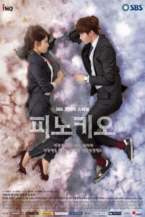 Kru produksi riils dua poster utama drama Korea 2014 'Pinocchio'.