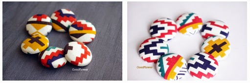 fabric button ethnic aztec pattern buttons large - www.cocoflower.net