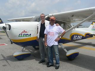 Els dos pilots lleidatans, en Pablo Manuel i en Toni Farré.