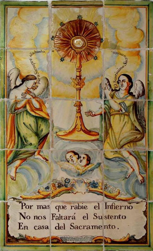 ALABADO SEA JESÚS EN EL SANTÍSIMO SACRAMENTO DEL ALTAR