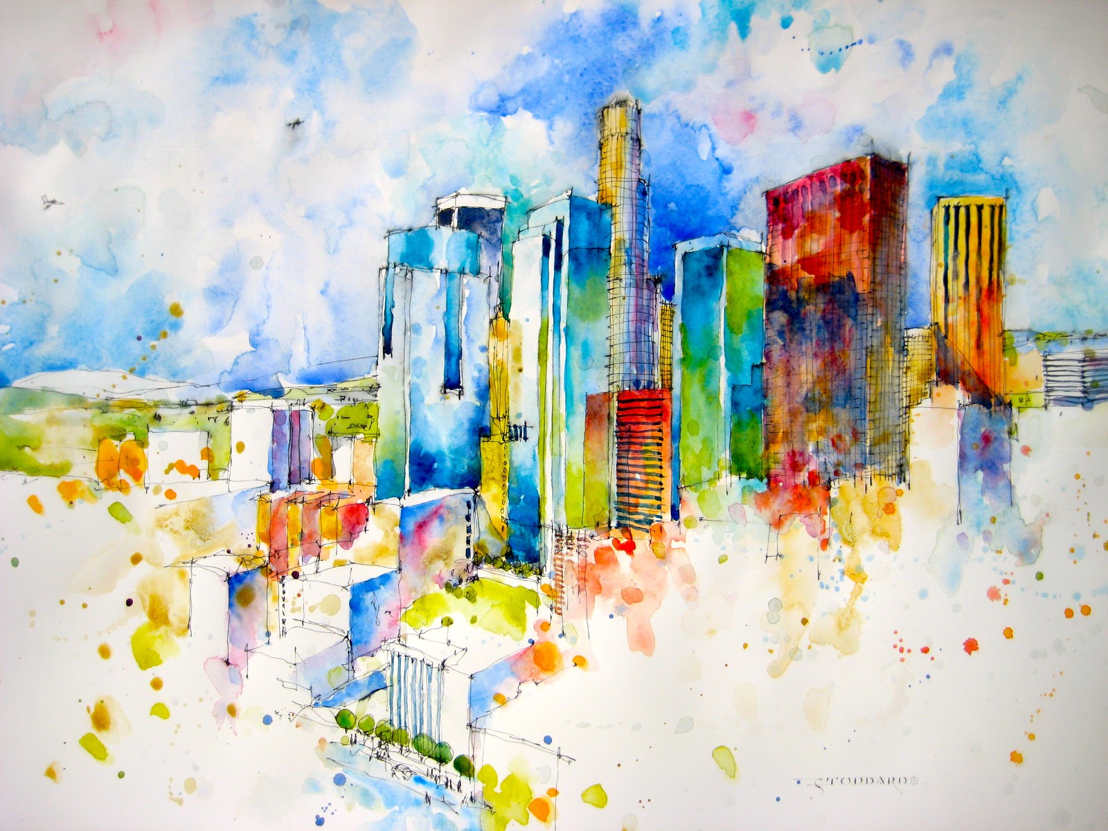 Los Angeles Wall Art 28+ [ los angeles wall mural ] | los angeles skyline wallpaper