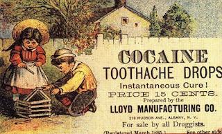 Pastiglie di cocaina per il mal di denti