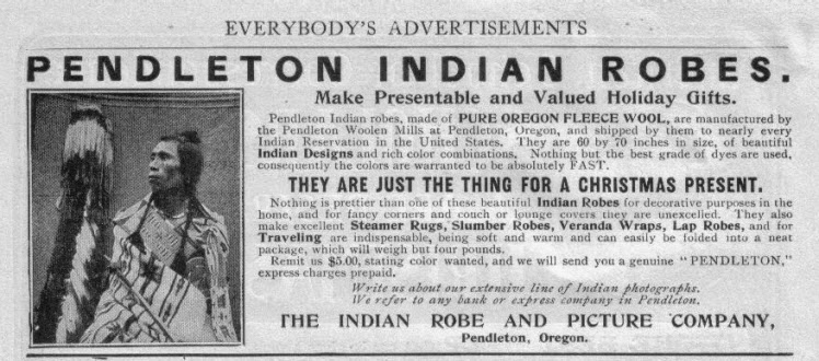 Pendleton Woolen Mills First Newspaper Advertisement 1901