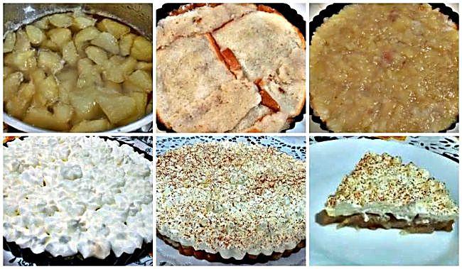 Preparación del pastel de pera