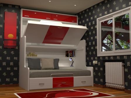 muebles para espacios pequeos dormitorios juveniles con literas abatibles y literas fijas ideal para amueblar la habitacion de tus hijos