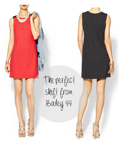 bailey44 shift dress, 