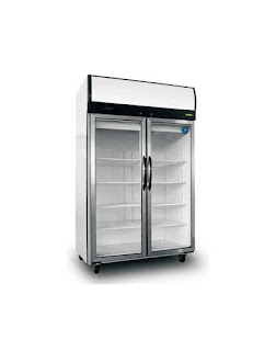 Two Glass Doors Two Sections - Upright Refrigerator