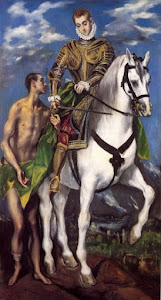 St. Martin of Tours and the beggar, by El Greco