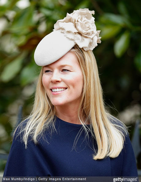 Autumn Phillips attends the Easter Matins service at St George's Chapel, Windsor Castle