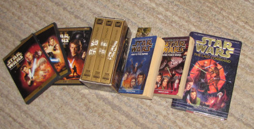 Star Wars movies and books
