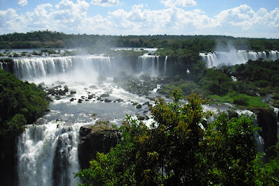 A small section of the stunning Iguazo Falls on the Argentina-Brazil border. No visit to South America is complete without seeing these natural wonders.