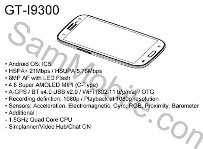 Samsung Galaxy S3 GT I9300, Samsung I9300 Galaxy S III, Samsung Galaxy S3 rumours, Samsung Galaxy S3 specifications, Samsung Galaxy S3 Price in India, Samsung Galaxy S3 price in Malaysia, Samsung Galaxy S3 4.8-inch
