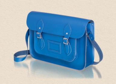 bright blue satchel